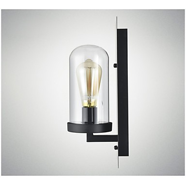 rustic style fixtures iron glass wall sconce retro wall lamp light from us lighting pop. Black Bedroom Furniture Sets. Home Design Ideas