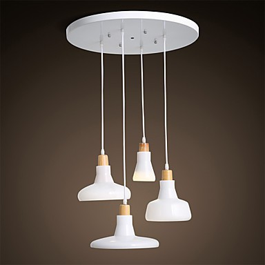 Creative characteristic 4 light pendant with iron shade lighting pop - Creative hanging lights ...