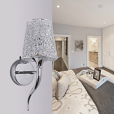 Wall Lamps Next To Bed : Silver Bedside Lamp Reading Wall Lamps Plumbing Trap Background Mirror Light - Lighting pop