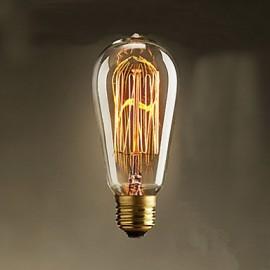 40w st58 edison light bulbs 19 e27 silk vertical wire retro decorative light bulbs - Decorative Light Bulbs