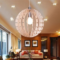 12W Vintage LED Others Wood Chandeliers Living Room / Bedroom / Dining Room / Study Room/Office / Hallway