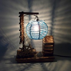 Valentine'S Day Creative Furnishing Articles Gifts Brush Pot Vintage Boutique Handicraft Desk Lamp Led Light