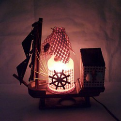 Valentine'S Day Creative Furnishing Articles Gifts Vintage Boutique Handicraft Bottle Marine Style Desk Lamp Led Light