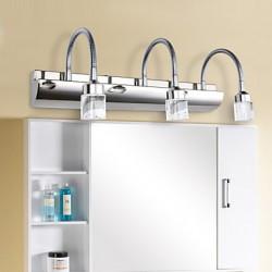 9W 3 Lights LED Bathroom Lighting , Modern/Contemporary LED Integrated Metal