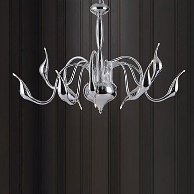 Max 10W Modern/Contemporary Electroplated Metal Chandeliers Living Room / Bedroom
