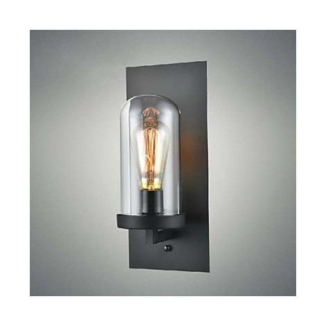 Rustic Wall Lights Nz : Rustic Style Fixtures Iron Glass Wall Sconce Retro Wall Lamp Light From US - Lighting pop