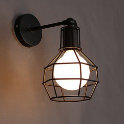 E27 220V 15*23CM 5-15㎡ Restoring Ancient Ways Is The Old Street Lamp Balcony Hallway, Wrought Iron Pot, Wall Lamp