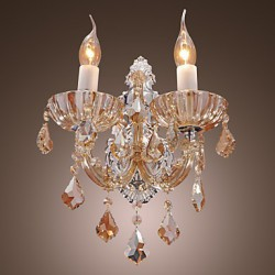 Next Crystal Wall Lights : Elegant Crystal Wall Light with 2 Lights - Lighting pop