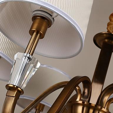 5 Rustic/Lodge / Vintage Crystal / Mini Style Electroplated Metal Chandeliers Living Room / Bedroom / Dining Room