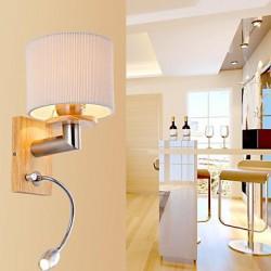 Oak Wall Lamp, One Light, with LED Reading Light, 220~240V (JY974)