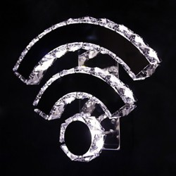 WIFI Crystal Led/Wall Sconces Crystal/LED Modern/Contemporary/Bed/Living/Hotel/Metal