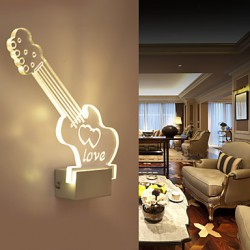 Acrylic Wall Lamp PVC Lamp Light LED / Bulb Included Modern/Contemporary Metal 220V 5㎡-10㎡ L27.5*H20.5*W5