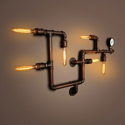 Wall Lamp Wall Sconces 6 Lights Bronze Finsh E26 E27 Industrial Style Rustic/Lodge Metal