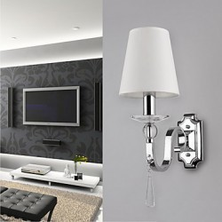 Warm White Wall Light with Crystal Drops