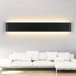 24W Modern LED Wall Sconces Light Indoor Black / White 72cm