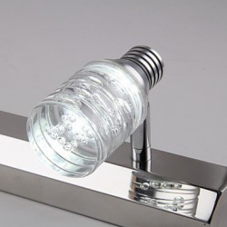 Modern Led Wall Light With Glass Bubble Shade Mirror Front