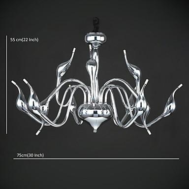 Max 10 watt Modern/Contemporary Chrome Metal Chandeliers / Pendant Lights