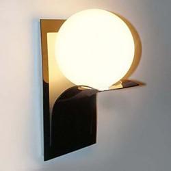 Bathroom Wall Light,1 Light, Modern Globe Metal Glass Electroplating