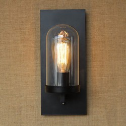 40W 110-220V American Country Style Living Room Pastoral Aisle Warehouse Industry Bedside Bar Decorative Wall Sconce