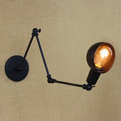 40W 110-240V Personality Long Arm Adjustable Angle Bar Three Retro Living Room Lamps Lighting Decorative Wall Sconce