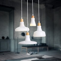 Creative Characteristic 4 Light Pendant with Iron Shade