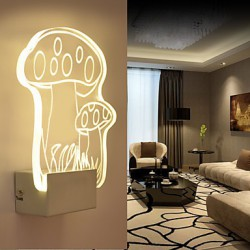 Acrylic Wall Lamp PVC Lamp Light LED / Bulb Included Modern/Contemporary Metal 220V 5㎡-10㎡ L18.5*H22.5*W5CM