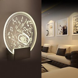Acrylic Wall Lamp PVC Lamp Light LED / Bulb Included Modern/Contemporary Metal 220V 5㎡-10㎡ L19*H20.5*W5CM