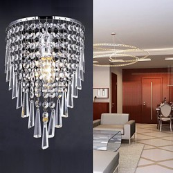 Classy Crystal Wall Light with 1 Light