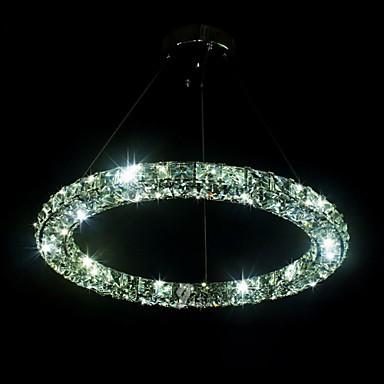 LED Crystal Pendant Light Lighting Modern Single D40CM Three Sides K9 Crystal Indoor Ceiling Lights Lamp Fixtures