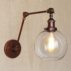 Wall Sconces / Swing Lights / Reading Wall Lights Crystal / Mini Style Rustic/Lodge Metal
