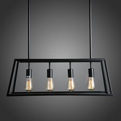 MAX 60W Rustic/Lodge Mini Style Electroplated Metal Chandeliers Living Room / Bedroom / Dining Room / Kitchen / Study Room/Office