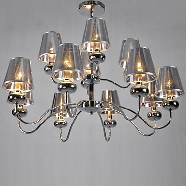 Maximum 60W Modern/Contemporary / Traditional/Classic Mini Style Chrome Metal Chandeliers / Pendant LightsLiving Room / Bedroom / Dining