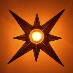 Brief Five-Pointed Star Lighting Personalized Modern Wall Light Child Housing Lamps