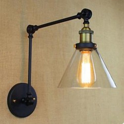 Dumb Black Restoring Ancient Ways Rural Restaurant Coffee Shop Decoration Glass Wall Lamp