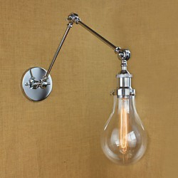 Chrome Glass Telescopic Retro Wall Lamp