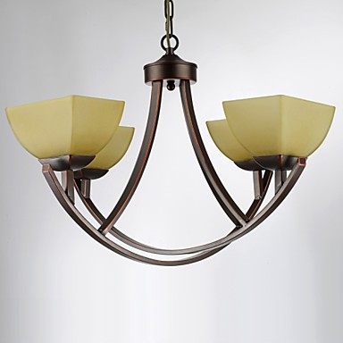 Chandeliers 4 Lights Traditional/Classic / Vintage Living Room / Bedroom / Study Room/Office Metal