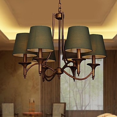 40W Modern/Contemporary / Traditional/Classic / Rustic/Lodge / Vintage / Country Antique Brass Metal Chandeliers / Pendant LightsLiving