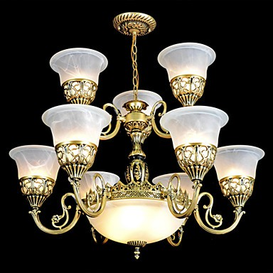 Traditional/Classic / Vintage / Retro Bronze Metal Chandeliers Living Room / Dining Room / Study Room/Office / Hallway