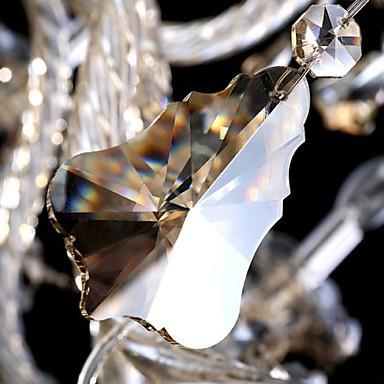 Flush Mount Cognac Color K9 Crystal Modern Chandelier with 6 Lights