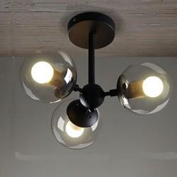 LED Glass Ball Iron Beanstalk Restaurant Molecular Ceiling Lamps