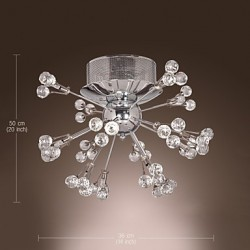 Max 10W Modern/Contemporary Crystal / Bulb Included Chrome Metal Flush Mount Living Room / Bedroom / Entry / Hallway