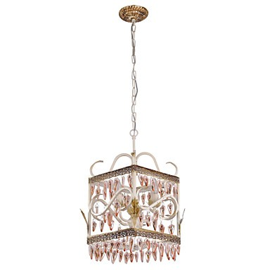 BOXIMIYA Rural Dining-Room of Europe Type Droplight American Country Rectangular Shell Lamp, Porch Lamp