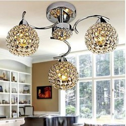 LED Dome Light of Modern Crystal Absorb Dome Light Meals Chandeliers Droplight Sitting Room