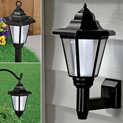 Solar Powered LED Outdoor Garden Path Yard Security Wall Light Landscape Lamp(CIS-57222)