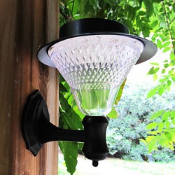 Outdoor Solar Power 16LED White Villa Wall Mount Garden Courtyard Door Path Light Lamp(CIS-57237)