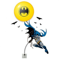 28*7*28CM Creative Fashion Batman Wallpaper Diy Wall Stick Small Night Lamp Wall Lamp Led Lights