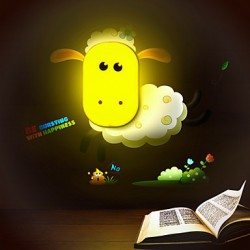 9*6*14CM Fun To Play With Creative Spirit Intelligent Light-Control Small Night Light Children Room Wall Lamp Led Lights