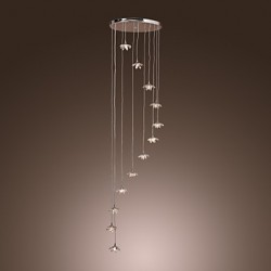 Max 10W Modern/Contemporary Crystal / Mini Style / Bulb Included Chrome Metal Pendant Lights Living Room / Bedroom / Dining Room