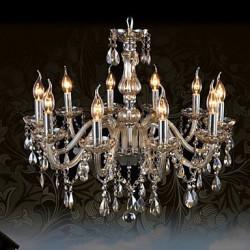 110V OR 220V 10Lights Luxury Crystal Chandelier/Cognac Color/K9 Crystal Chandeliers Living Room / Bedroom