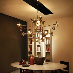5 Tiffany / Country Mini Style Electroplated Metal Chandeliers Living Room / Bedroom / Dining Room / Game Room